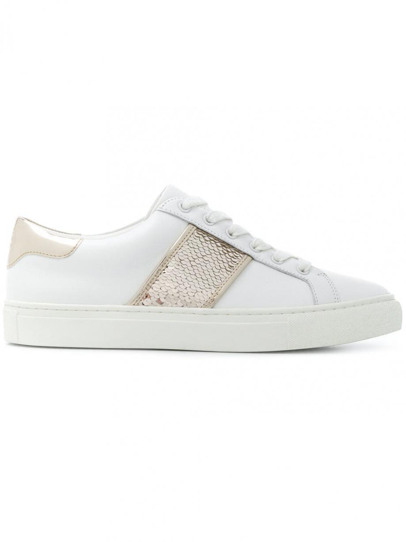 Tory Burch Carter sequin sneakers Blanc