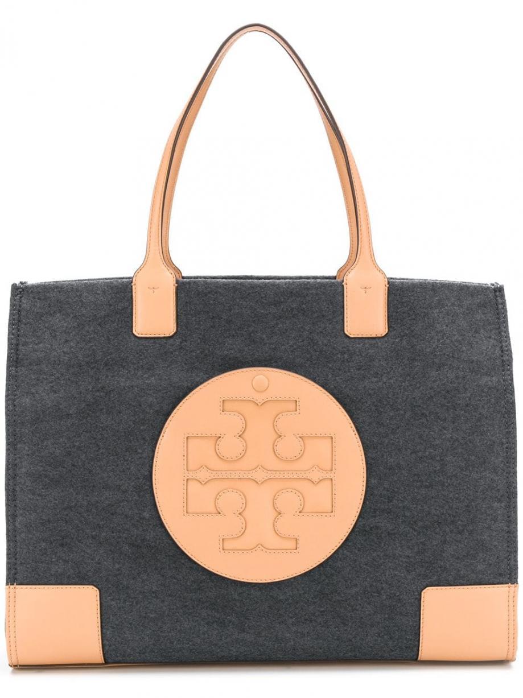Tory Burch Ella Tote Bag Gris Femme