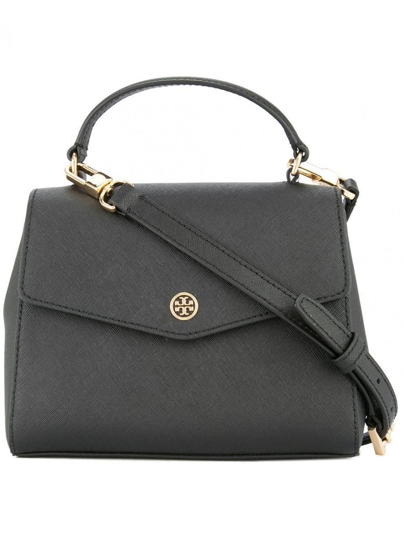 2c2d01e6db Tory Burch sac à main en cuir Noir | Femme Besaces & Sacs à ...